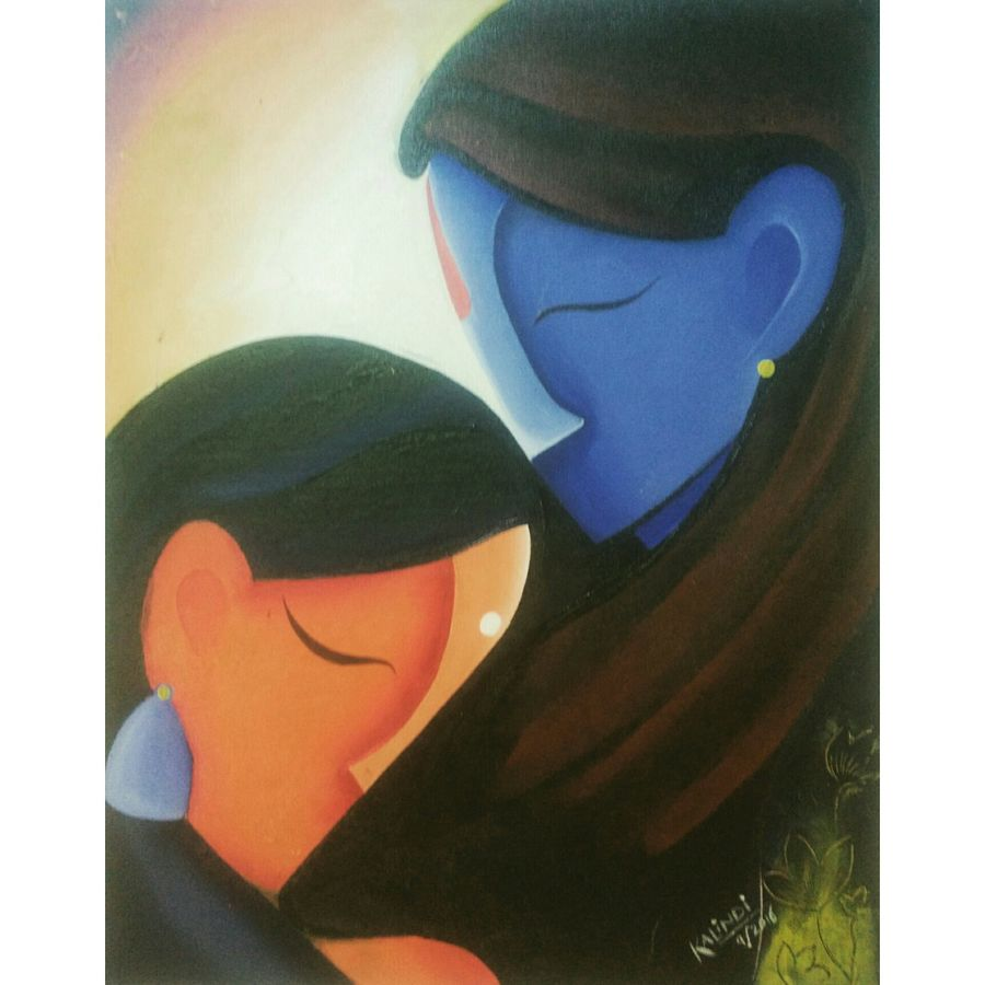 radha krishna, 20 x 17 inch, kalindi koparde,abstract paintings,paintings for living room,radha krishna paintings,love paintings,canvas,acrylic color,20x17inch,GAL04441063heart,family,caring,happiness,forever,happy,trust,passion,romance,sweet,kiss,love,hugs,warm,fun,kisses,joy,friendship,marriage,chocolate,husband,wife,forever,caring,couple,sweetheart
