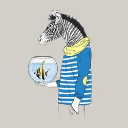 The Zebra art print by Gallerist