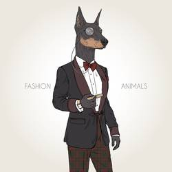 Doberman art print by Gallerist
