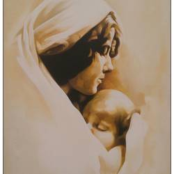 true love of mother, 24 x 36 inch, roja lawrence,figurative paintings,paintings for living room,canvas,acrylic color,24x36inch,GAL04381068
