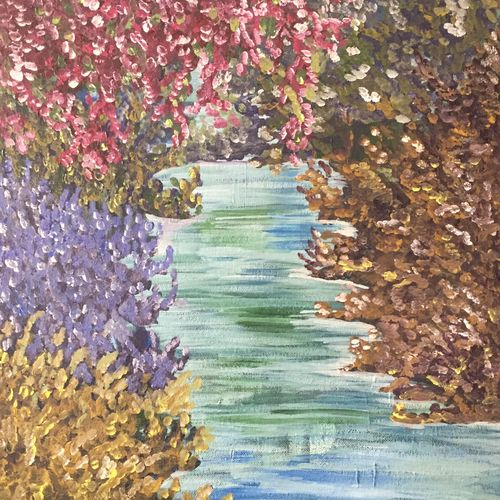 spring scene , 12 x 16 inch, swati verma,paintings,nature paintings,paintings for dining room,paintings for living room,paintings for office,paintings for hotel,paintings for dining room,paintings for living room,paintings for office,paintings for hotel,canvas,acrylic color,12x16inch,GAL0422610686Nature,environment,Beauty,scenery,greenery