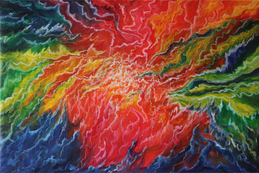 samudra manthan - churning of the ocean, 30 x 20 inch, goutami mishra,paintings,abstract paintings,contemporary paintings,paintings for living room,paintings for bedroom,paintings for office,paintings for hotel,paintings for living room,paintings for bedroom,paintings for office,paintings for hotel,canvas,acrylic color,30x20inch,GAL046510695