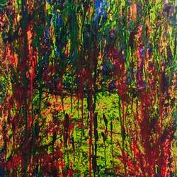 the melting jungle, 17 x 24 inch, fidal ahmed,paintings,abstract paintings,paintings for dining room,paintings for living room,paintings for bedroom,paintings for office,paintings for bathroom,paintings for kids room,paintings for hotel,paintings for kitchen,canvas,acrylic color,17x24inch,GAL0462410723