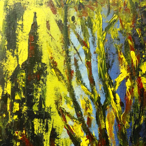 city loves the jungle, 14 x 32 inch, fidal ahmed,paintings,abstract paintings,abstract expressionist paintings,paintings for dining room,paintings for living room,paintings for bedroom,paintings for office,paintings for bathroom,paintings for kids room,paintings for hotel,paintings for kitchen,canvas,acrylic color,14x32inch,GAL0462410726