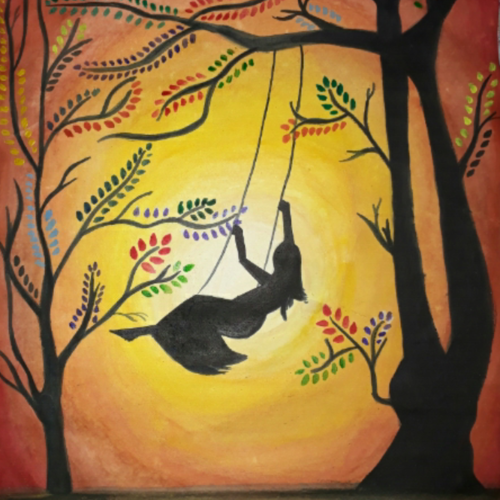 beauty of evenings, 8 x 12 inch, disha shenoy,paintings,mother teresa paintings,paintings for living room,paintings for bedroom,paintings for living room,paintings for bedroom,paper,acrylic color,watercolor,8x12inch,GAL0403310731