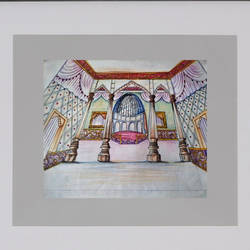 festive pandal, 24 x 22 inch, bansi lal ketki,paintings,conceptual paintings,paintings for living room,paper,pencil color,24x22inch,GAL0464110745