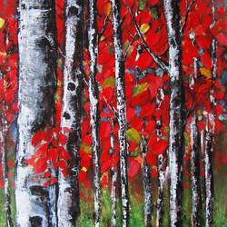 spring forest, 15 x 28 inch, solina kumar,nature paintings,paintings for living room,paintings for office,paintings for hotel,paintings for living room,paintings for office,paintings for hotel,canvas,acrylic color,15x28inch,GAL0465110750Nature,environment,Beauty,scenery,greenery