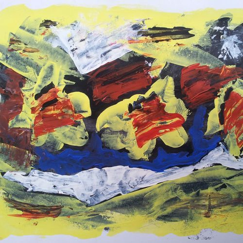 dancing of colour, 15 x 10 inch, yashpal gambhir,paintings,abstract paintings,modern art paintings,nature paintings,paintings for dining room,paintings for living room,paintings for bedroom,paintings for office,paintings for hotel,paper,acrylic color,15x10inch,GAL0446710777Nature,environment,Beauty,scenery,greenery