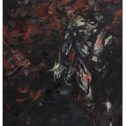 dark, red, black, abstract figurative, 48 x 60 inch, sanjana gothi,paintings,abstract paintings,figurative paintings,conceptual paintings,abstract expressionist paintings,expressionist paintings,canvas,oil paint,48x60inch,GAL0466610798