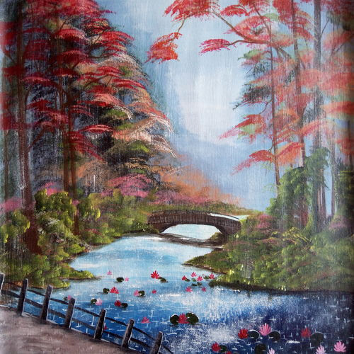 the rain, 24 x 18 inch, nafisa shaikh,paintings,nature paintings,paintings for living room,paintings for office,paintings for hotel,canvas,acrylic color,24x18inch,GAL0304910807Nature,environment,Beauty,scenery,greenery