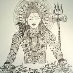 biswanath, 11 x 13 inch, ananya kundu,drawings,figurative drawings,paintings for bedroom,thick paper,ink color,11x13inch,GAL0437110822