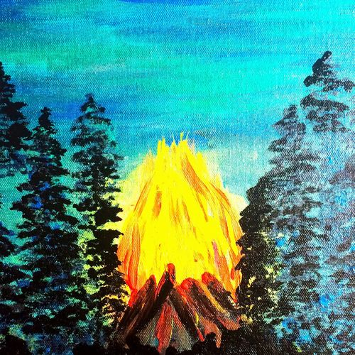 fire burns brighter in the dark!, 12 x 16 inch, monu dihingia,paintings,abstract paintings,nature paintings,illustration paintings,paintings for dining room,paintings for living room,paintings for office,paintings for dining room,paintings for living room,paintings for office,canvas,acrylic color,fabric,12x16inch,GAL0467810825Nature,environment,Beauty,scenery,greenery