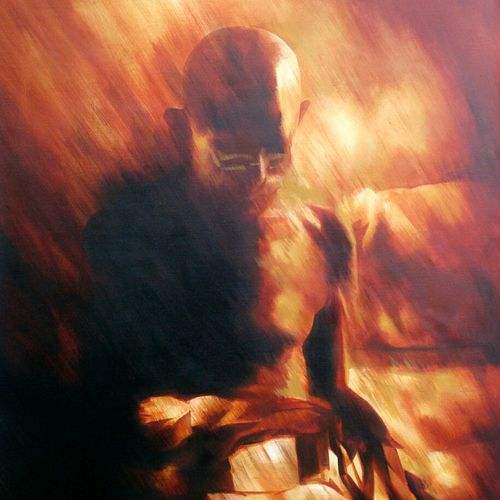 mahatma gandhi ji , 24 x 36 inch, roja lawrence,abstract paintings,paintings for office,canvas,acrylic color,24x36inch,GAL04381085