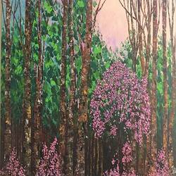 forest, 24 x 46 inch, shilpi singh patel,paintings,nature paintings,paintings for hotel,canvas,acrylic color,24x46inch,GAL045510860Nature,environment,Beauty,scenery,greenery