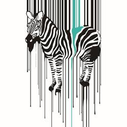 The zebra 2 art print by Gallerist