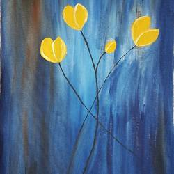 rays of hopes, 15 x 21 inch, ayeesha s,paintings,flower paintings,paintings for living room,canvas,acrylic color,15x21inch,GAL0469610932