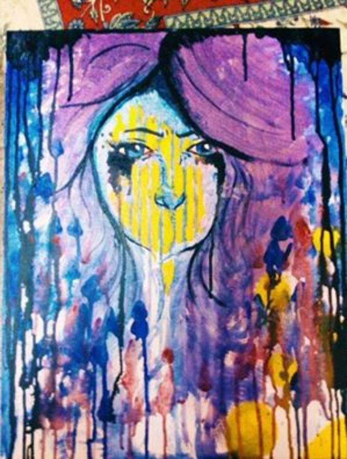 eye speaks more, 19 x 20 inch, nishant  kumar,abstract paintings,paintings for living room,canvas,acrylic color,19x20inch,GAL04511094