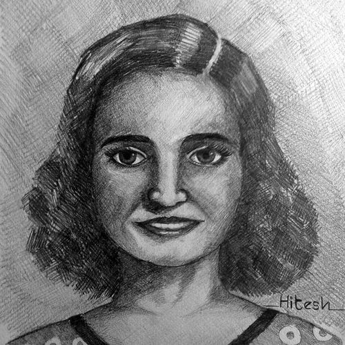 girl, 11 x 14 inch, hitesh mondal,drawings,portrait drawings,paintings for living room,thick paper,pencil color,11x14inch,GAL0467110952
