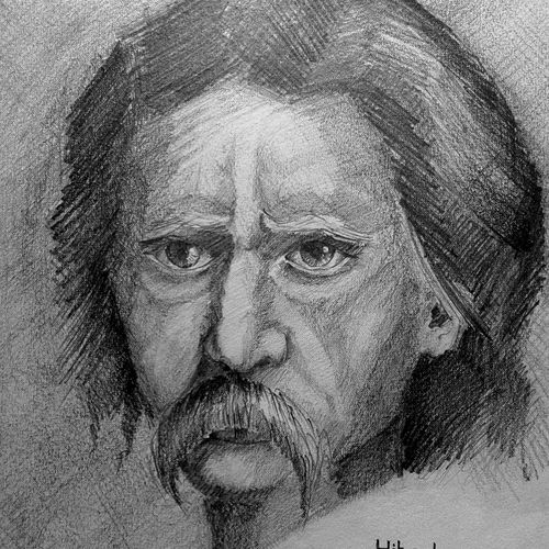 old man, 11 x 14 inch, hitesh mondal,drawings,portrait drawings,paintings for living room,rice paper,pencil color,11x14inch,GAL0467110954
