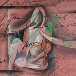 lady, 8 x 11 inch, sunil begana,paintings,abstract paintings,paper,watercolor,8x11inch,GAL065410956
