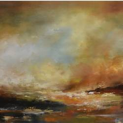 awakening, 36 x 16 inch, vandana mehta,paintings,abstract expressionist paintings,impressionist paintings,contemporary paintings,paintings for dining room,paintings for living room,paintings for hotel,paintings for dining room,paintings for living room,paintings for hotel,canvas,oil paint,36x16inch,GAL0402310976
