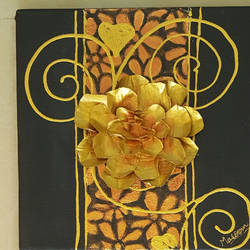 golden rose, 10 x 10 inch, masoom sanghi,paintings,abstract paintings,multi piece paintings,canvas,mixed media,10x10inch,GAL057210990