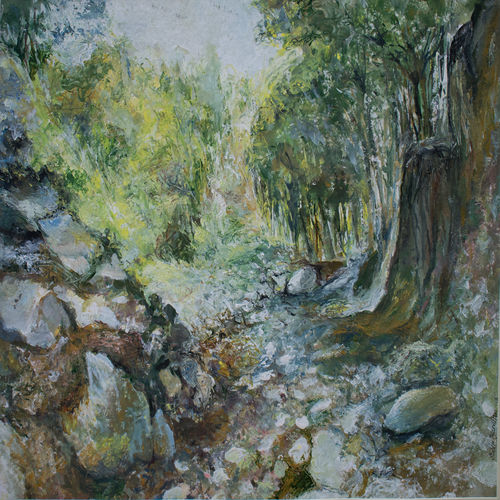 landscape 1, 23 x 18 inch, subir bardhan,paintings,landscape paintings,paintings for living room,paintings for hotel,handmade paper,acrylic color,23x18inch,GAL0436910995