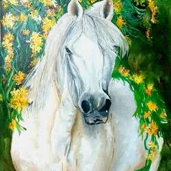 the green broke, 24 x 36 inch, deepshikha bishoyi,paintings,wildlife paintings,animal paintings,realistic paintings,horse paintings,paintings for dining room,paintings for living room,paintings for bedroom,paintings for office,paintings for kids room,paintings for hotel,canvas,oil,24x36inch,GAL0473911007