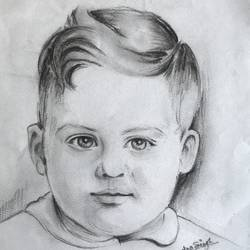 child face, 20 x 20 inch, deependar singh rathor,paintings,portrait paintings,baby paintings,ivory sheet,pencil color,20x20inch,GAL0476811045