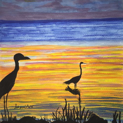 sunrise birds, 9 x 12 inch, suhani goel,wildlife paintings,paintings for bedroom,love paintings,renaissance watercolor paper,watercolor,9x12inch,GAL04621107heart,family,caring,happiness,forever,happy,trust,passion,romance,sweet,kiss,love,hugs,warm,fun,kisses,joy,friendship,marriage,chocolate,husband,wife,forever,caring,couple,sweetheart