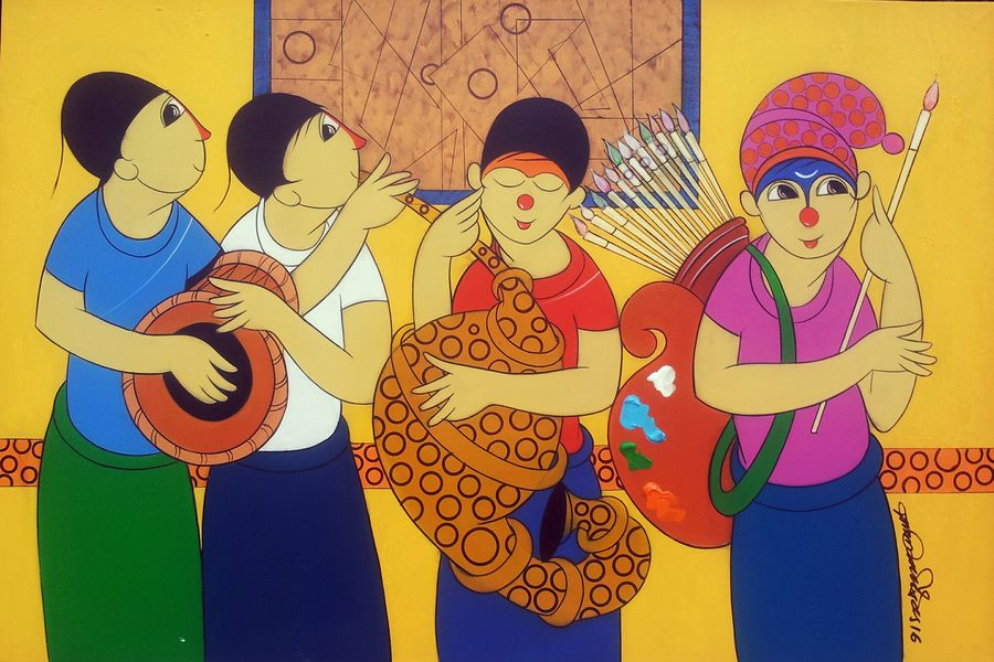 artistic , 24 x 36 inch, dnyaneshwar  bembade ,figurative paintings,paintings for office,canvas,acrylic color,24x36inch,GAL04641109