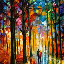 Couple walk art print by Gallerist
