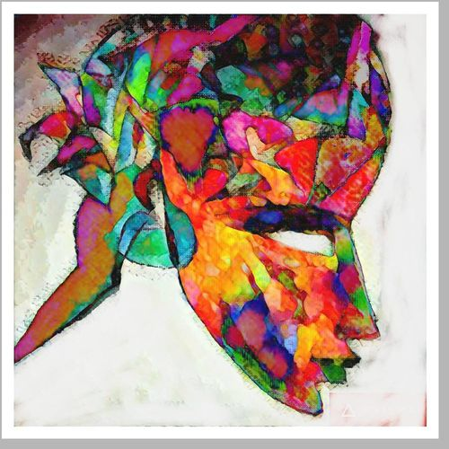 head, 16 x 17 inch, sneh bhasin,conceptual paintings,paintings for living room,thick paper,watercolor,16x17inch,GAL04661113