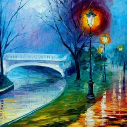Road side bridge art print by Gallerist