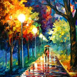 Couple Walking art print by Gallerist
