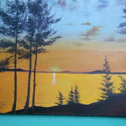 scenery, 28 x 20 inch, aftab alam,nature paintings,ivory sheet,oil,28x20inch,GAL04691123Nature,environment,Beauty,scenery,greenery