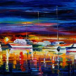 Sea Boats art print by Gallerist