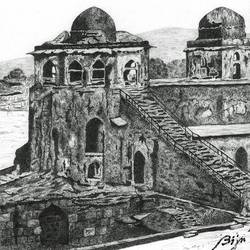majestic, 16 x 12 inch, biju puthiyapurail,fine art drawings,drawings,conceptual drawings,paintings for living room,paintings for office,paintings for hotel,paintings for school,thick paper,pencil color,16x12inch,GAL04741132