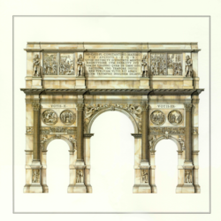 Roma Arco Di Costantino art print by Gallerist