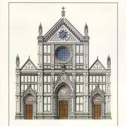 Firenze Santa Croce art print by Gallerist