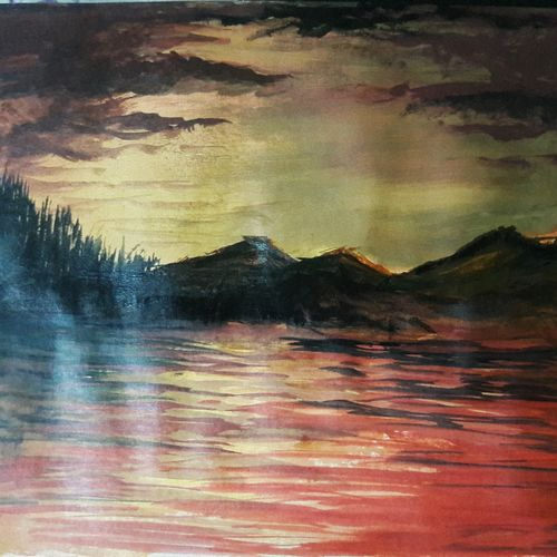 first, 9 x 12 inch, shourya bhattacharyya,paintings,landscape paintings,paintings for living room,paintings for living room,paper,acrylic color,9x12inch,GAL0481311348