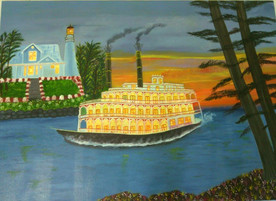 no title, 30 x 42 inch, preeti bhatt,landscape paintings,paintings for living room,canvas,oil,30x42inch,GAL04681135