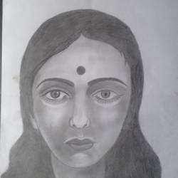 my face, 11 x 15 inch, sangita  dey,drawings,paintings for dining room,portrait drawings,paintings for dining room,drawing paper,pencil color,11x15inch,GAL0483711381