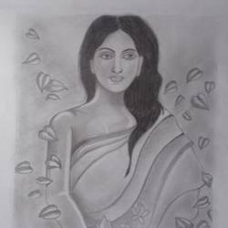 the virgin girl, 11 x 15 inch, sangita  dey,drawings,paintings for living room,paintings for bedroom,paintings for living room,paintings for bedroom,figurative drawings,drawing paper,graphite pencil,11x15inch,GAL0483711385