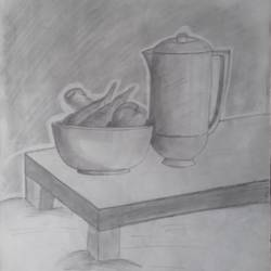 still life, 11 x 15 inch, sangita  dey,paintings for living room,fine art drawings,modern drawings,drawing paper,graphite pencil,11x15inch,GAL0483711386