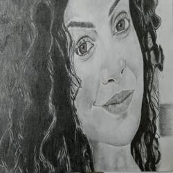 beauty in curls, 14 x 11 inch, akshay kumar,drawings,portrait drawings,paintings for dining room,paintings for living room,paintings for bedroom,paintings for office,paintings for kids room,paper,graphite pencil,14x11inch,GAL0427611394