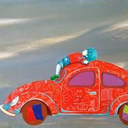 passion of the childhood iii, 37 x 24 inch, shiv kumar soni,figurative paintings,paintings for living room,canvas,acrylic color,37x24inch,GAL0301141
