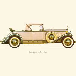 Cadillac art print by Gallerist