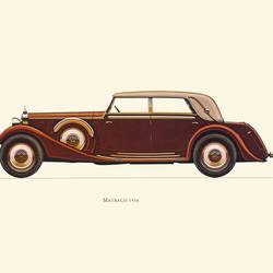 Brown car 2 art print by Gallerist