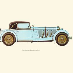 Sky Blue Car art print by Gallerist